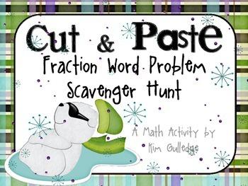 "Fractions ""Cut & Paste"" Scavenger Hunt"