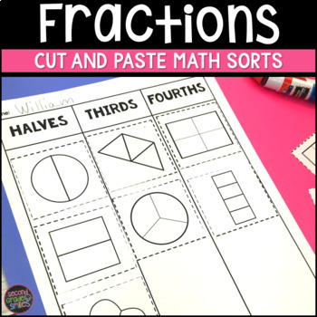 Fractions Cut and Paste Math Sorts