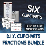 Fractions Anchor Charts: DIY Clipchart BUNDLE!