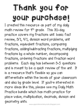 Fractions - Daily Math Practice