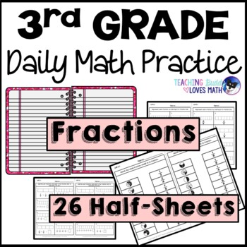 Fractions Daily Math Review 3rd Grade Bell Ringers Wamr Ups