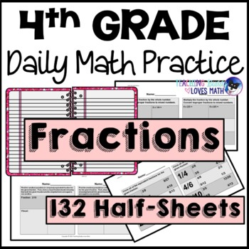 Fractions Daily Math Review 4th Grade Bell Ringers Warm Ups