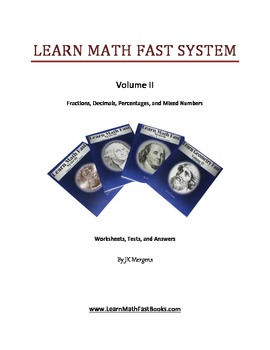 Fractions, Decimal, Percentages, Worksheets, Tests, and Answers