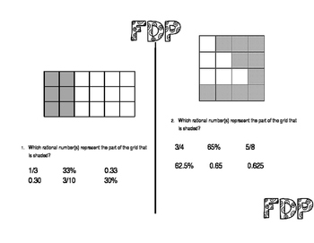 Fractions, Decimal, and Percent Station
