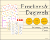 Memory Game - Fractions & Decimals (EUR Standard)