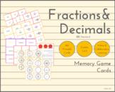 Memory Game - Fractions & Decimals (US Standard)