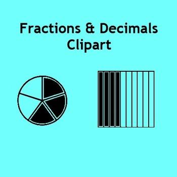 Fractions & Decimals Clip Art - Fraction and Decimal Models