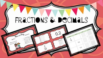 Fractions & Decimals:  Common Core