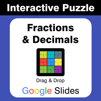 Fractions & Decimals Conversion - Puzzles with GOOGLE Slides