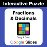 Fractions & Decimals Conversion - Puzzles with GOOGLE Slides