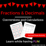 Converting Fractions and Decimals Activity - Puzzle Worksh