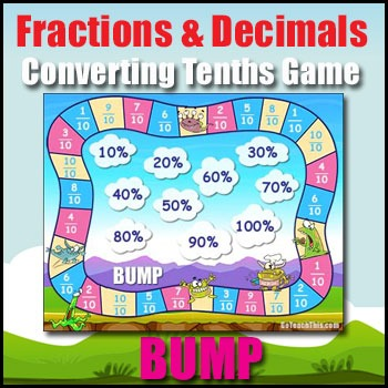 Fractions & Decimals Game - Converting Tenths BUMP