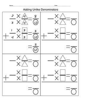 Fractions/ Decimals- Graphic Organizer/ Placemat