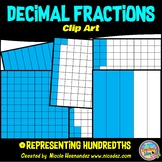 Fractions & Decimals (Hundredths) Clip Art for Personal and Commercial Use