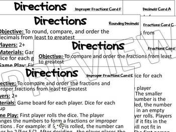 Fractions, Decimals, Improper Fractions - Compare, Order, and Round