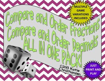 Fractions, Decimals, Improper Fractions - Compare, Order,