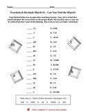 Fractions & Decimals Match 2