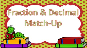 Fractions & Decimals Match-Up Game