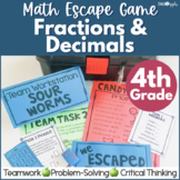 Fractions & Decimals Math Escape Game