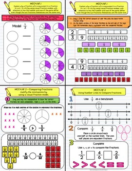 Fractions / Decimals (NF) DIGITAL Interactive Notebook - Use With GOOGLE  4th Gr
