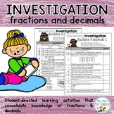 Numeracy Investigation: Fractions & Decimals