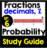 Fractions, Decimals, Percent & Probability Study Guide