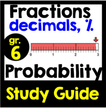 Fractions, Decimals, Percent & Probability Study Guide