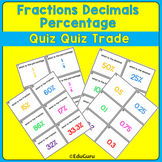 Fractions Decimals Percentage Quiz Quiz Trade Game