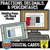 Fractions, Decimals, & Percentages Boom Card Bundle {Digit