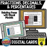 Fractions, Decimals, & Percentages Boom Card Bundle {Digit