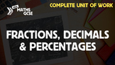 Fractions, Decimals & Percentages - Complete Unit of Work