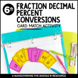 Fraction Decimal Percent Conversions: Matching Cards