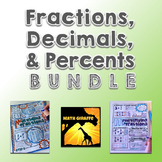 Fractions, Decimals, & Percents Activity Bundle