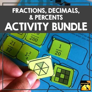 Fractions, Decimals, & Percents Activity Bundle