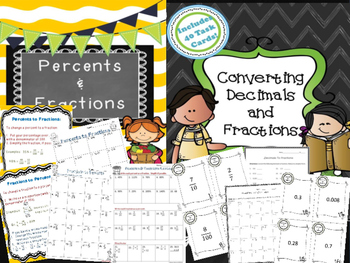 Fractions, Decimals, Percents Bundle