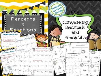 Fractions, Decimals, Percents Bundle