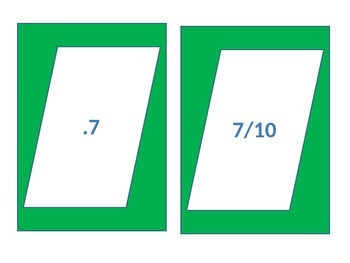 Fractions, Decimals, Percents Card Game