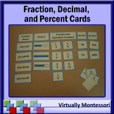 Fractions, Decimals, & Percents Card Sort