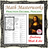 Fractions Decimals Percents Conversion - Math Masterworks Coloring