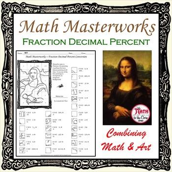 Fractions Decimals Percents Conversion - Math Masterworks Coloring