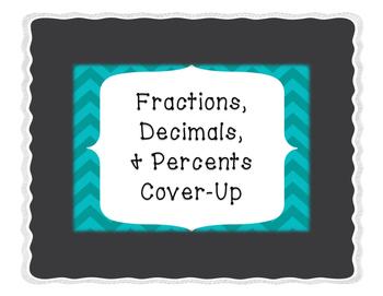 Fractions, Decimals, & Percents Cover Up
