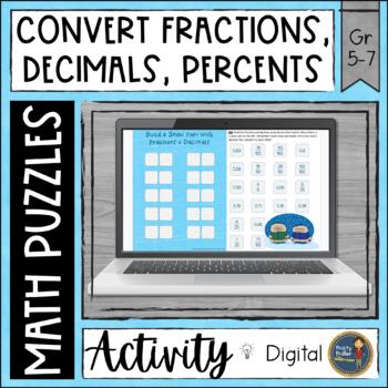 Fractions Decimals Percents Digital Interactive Google Drive