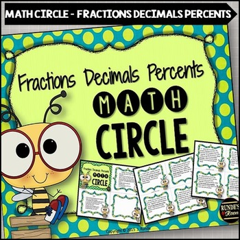 Fractions Decimals Percents Math Circle