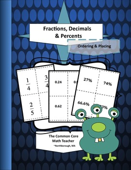 Fractions, Decimals & Percents: Ordering and Placing
