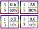 Equivalent Fractions, Decimals, and Percents Puzzle