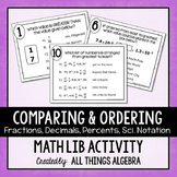 Fractions, Decimals, Percents, Scientific Notation Math Lib