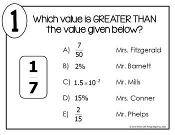 Fractions, Decimals, Percents, Scientific Notation Math Lib