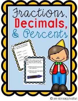 Fractions, Decimals, & Percents {Stations}