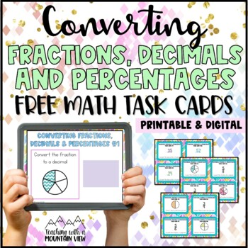 Fractions, Decimals, Percents Task Cards