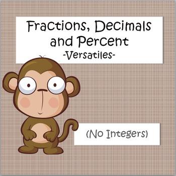 Fractions, Decimals, Percents - VersaTiles
